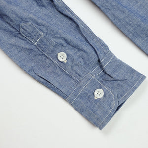 FOB Factory 'F3378' 6.5oz Selvedge Chambray Work Shirt - Blue - Sunset Dry Goods