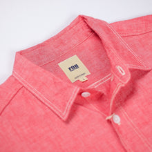 FOB Factory 'F3378' 6.5oz Selvedge Chambray Work Shirt - Red - Sunset Dry Goods & Men's Supply PH