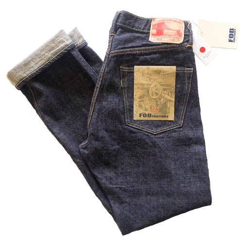 "FOB Factory ""G3"" 14oz. Unsanforized Japanese Selvedge Jeans (Slim Cut) - Sunset Dry Goods & Men's Supply PH"