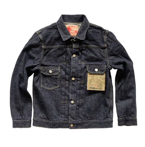 "FOB Factory ""G3 2nd"" 14oz. Unsanforized Japanese Selvedge Denim Jacket - Sunset Dry Goods & Men's Supply PH"