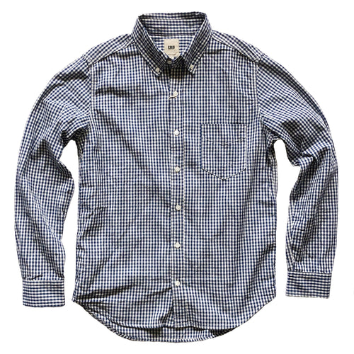 FOB Factory Gingham Single Pocket L/S Shirt - Indigo - Sunset Dry Goods & Men's Supply PH