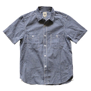 FOB Factory Gingham S/S Work Shirt - Indigo - Sunset Dry Goods & Men's Supply PH