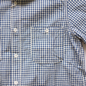 FOB Factory Gingham S/S Work Shirt - Indigo - Sunset Dry Goods