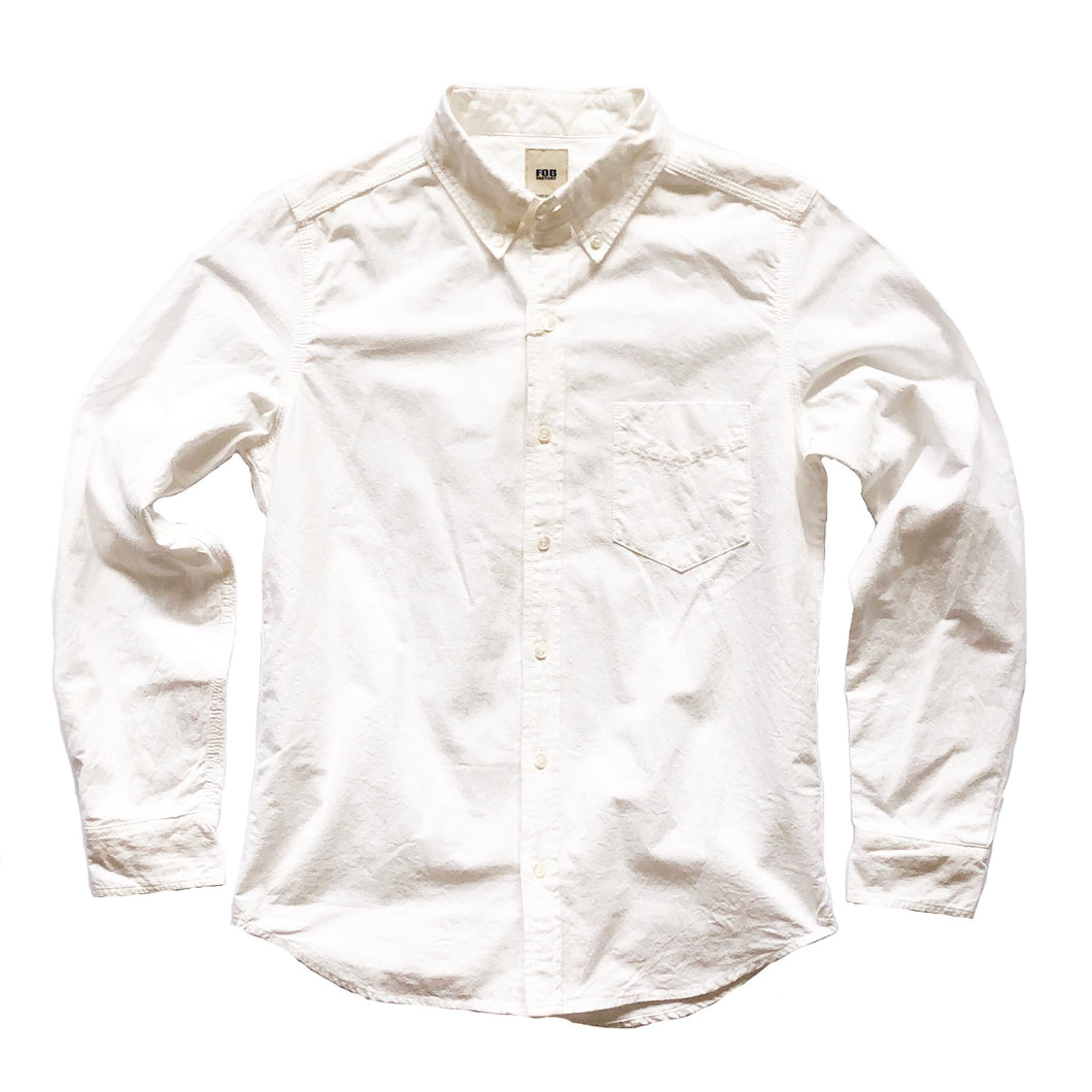 FOB Factory Ox Single Pocket L/S Shirt - White - Sunset Dry Goods & Men's Supply PH
