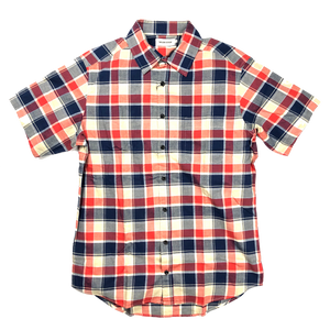 Taylor Stitch 'California' Madras S/S Shirt - Red Plaid
