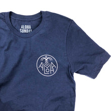 Aloha Sunday Areca Tee - Navy - Sunset Dry Goods