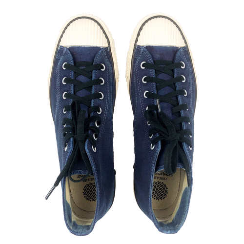 PRAS Shellcap Mid Hanpu Shoes - Hand Dyed Indigo x Off White
