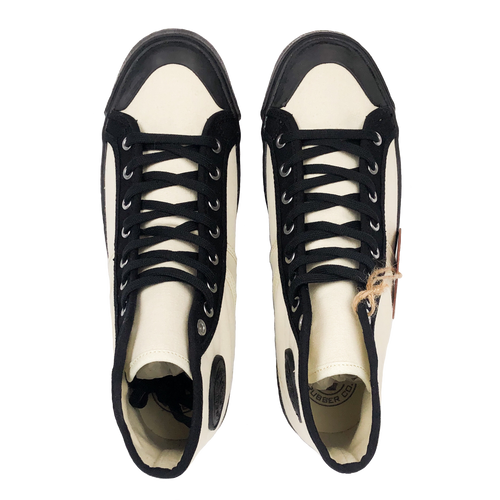 Colchester Rubber Co. Contrast High Top - Ecru x Black - Sunset Dry Goods