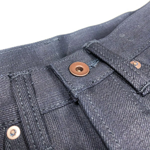 Kerbside & Co. 'Carter' Cinch Back 15oz. Indigo x Indigo Japanese Selvedge Jeans (Straight Cut) - Sunset Dry Goods