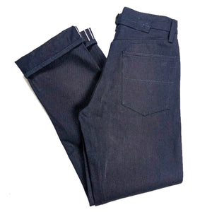 "Kerbside & Co. ""Carter"" Cinch Back 15oz. Indigo x Indigo Japanese Selvedge Jeans (Straight Cut) - Sunset Dry Goods & Men's Supply PH"