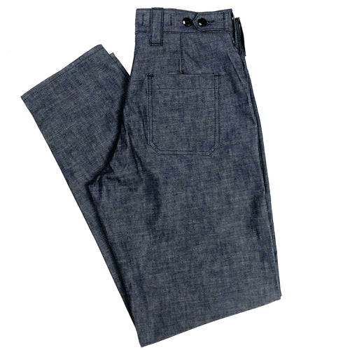 "Kerbside & Co. ""Sawyer"" Japanese Chambray Deck Pants (Regular Tapered) - Sunset Dry Goods & Men's Supply PH"