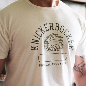 "Knickerbocker Mfg. Co. ""Phys. Ed."" Tube Tee - Milk - Sunset Dry Goods"