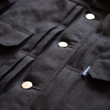 Mihane Co. 'Treadles' 14oz. Black x Blue Non-Selvedge Type 2 Denim Jacket - Sunset Dry Goods