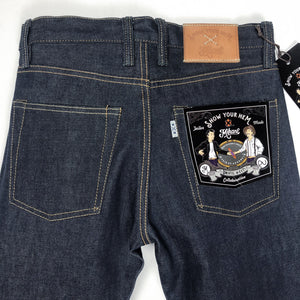 Mihane & Co. x Show Your Hem 'Unifil Weft' 14.5oz. Selvedge Jeans (Slim Cut) - Sunset Dry Goods
