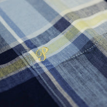 Pherrow's 'PBD2' Madras Check L/S Shirt - Sax - Sunset Dry Goods & Men's Supply PH