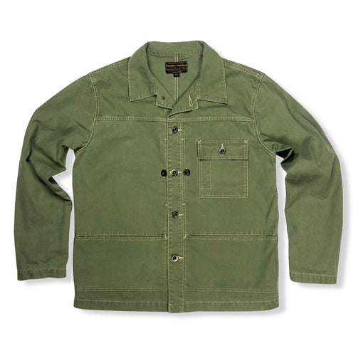 Pherrow's 'PMCS1' Military Poplin Jacket - Olive - Sunset Dry Goods & Men's Supply PH