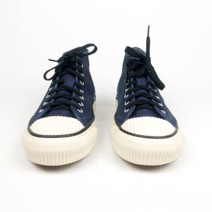 PRAS Shellcap Mid Hanpu Sneakers - Hand Dyed Indigo x Off White - Sunset Dry Goods