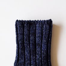 RoToTo Eco Low Guage Slub Socks - Dark Denim - Sunset Dry Goods