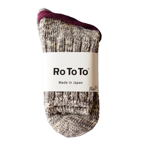 RoToTo Eco Low Guage Slub Socks - Grey - Sunset Dry Goods