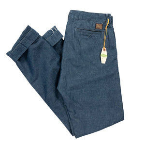 "Runabout Goods ""Campus Chino"" Chambray Pants (Slim Tapered) - Sunset Dry Goods & Men's Supply PH"