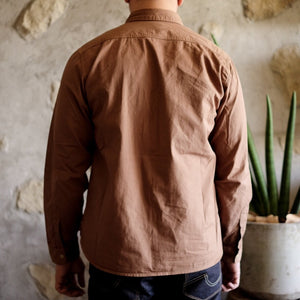 Runabout Goods 'Guide Shirt' Cotton Twill L/S  Work Shirt - Walnut - Sunset Dry Goods