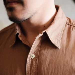 Runabout Goods Guide Cotton Twill L/S Shirt - Walnut - Sunset Dry Goods & Men's Supply PH