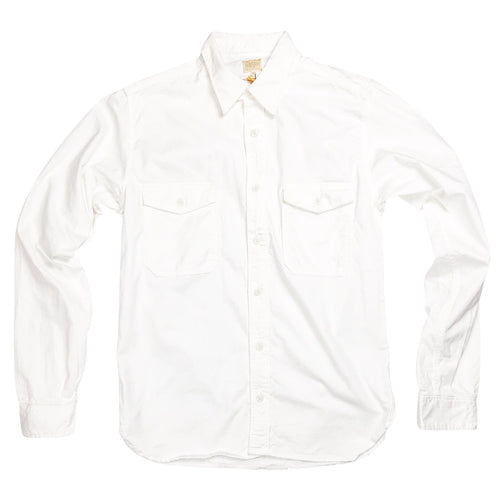 Runabout Goods Guide Cotton Twill L/S Shirt - White - Sunset Dry Goods & Men's Supply PH