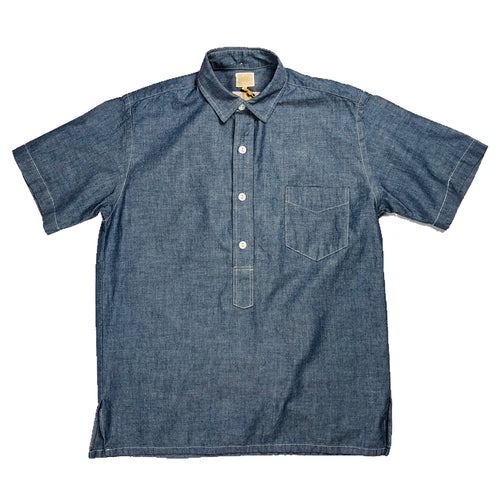 Runabout Goods 'Oxnard' Chambray S/S Popover Shirt - Sunbleached - Sunset Dry Goods