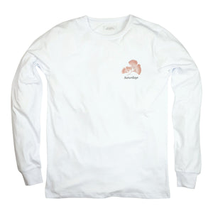 Saturdays NYC Ginko L/S Tee - White - Sunset Dry Goods