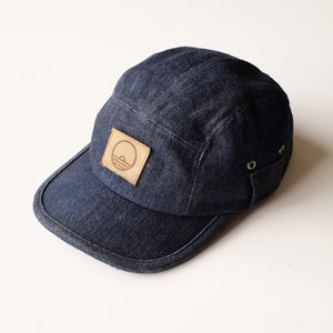 Sunset Dry Goods 5-Panel Washed Selvedge Denim Ball Cap - Sunset Dry Goods
