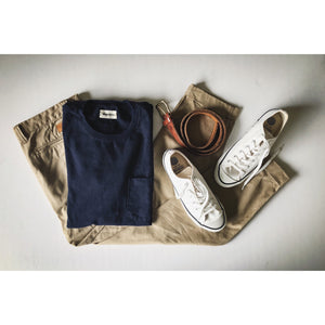 Taylor Stitch Heavy Bag Pocket Tee - Navy - Sunset Dry Goods
