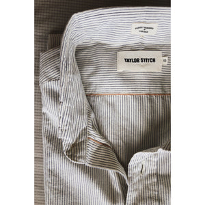 Taylor Stitch 'Jack' Selvedge Cotton L/S Shirt - Indigo Stripe - Sunset Dry Goods