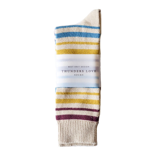 Thunders Love 'Bohemian Collection' Crew Socks - Kippenberg - Sunset Dry Goods