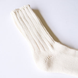 Thunders Love 'Color Block' Crew Socks - Raw White - Sunset Dry Goods