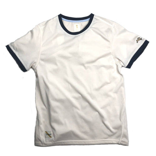 Tracksmith Towne Tee - Ivory/Navy - Sunset Dry Goods & Men's Supply PH