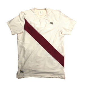 Tracksmith Van Courtlandt Tee - Ivory/Crimson - Sunset Dry Goods & Men's Supply PH