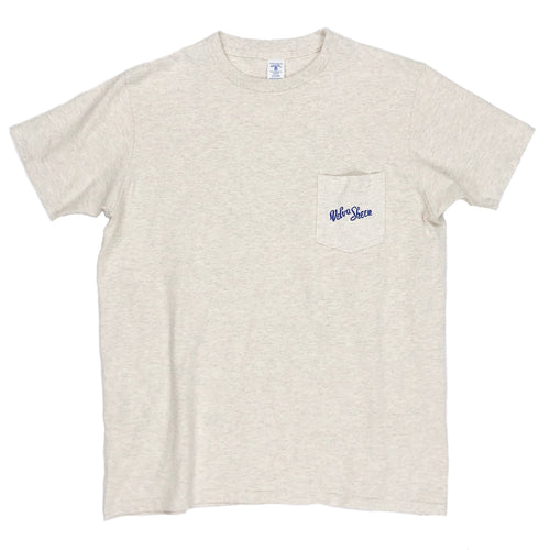 Velva Sheen Logo Pocket Tee - Oatmeal - Sunset Dry Goods