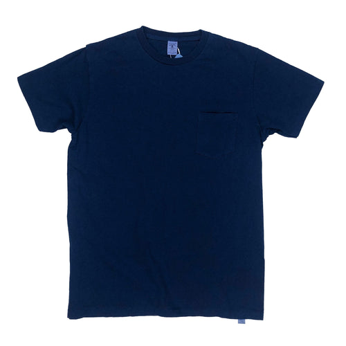 Velva Sheen Natural Indigo Dyed Pocket Tee - Indigo - Sunset Dry Goods