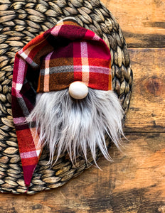 Spiced Wine Plaid Gnome