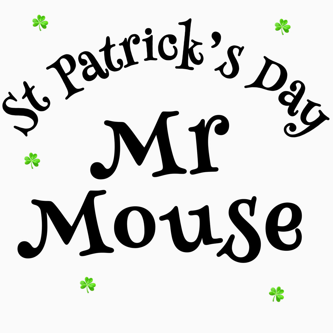 Mr Mouse St Patrick's Day Gnome
