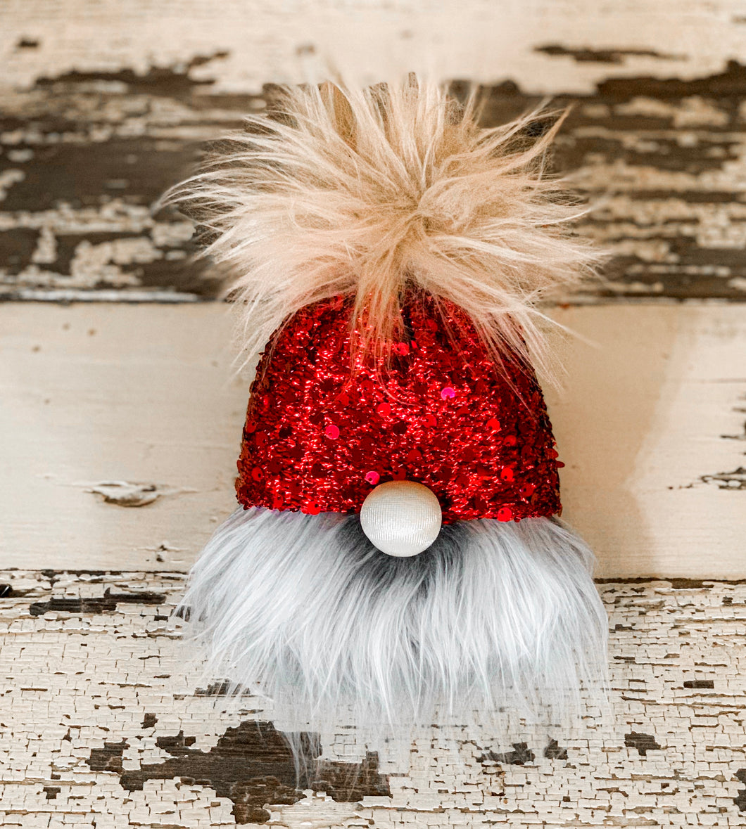 Red Sparkle Pom Valentines Gnome