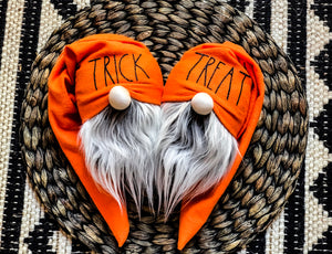 Orange Trick & Treat Halloween Gnomes
