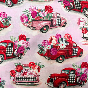 Pink & Red Valentines Trucks Gnome
