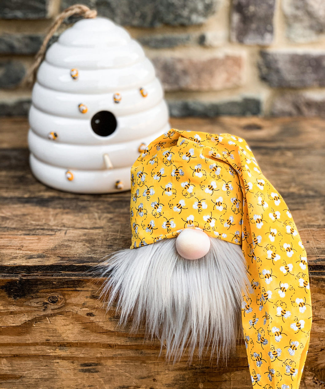 Sparkly Mini Bee Spring Gnome