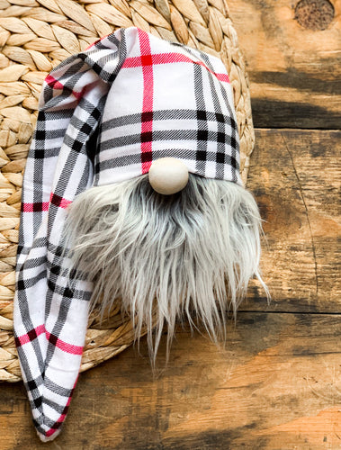 Red Apple Strudel Plaid Gnome