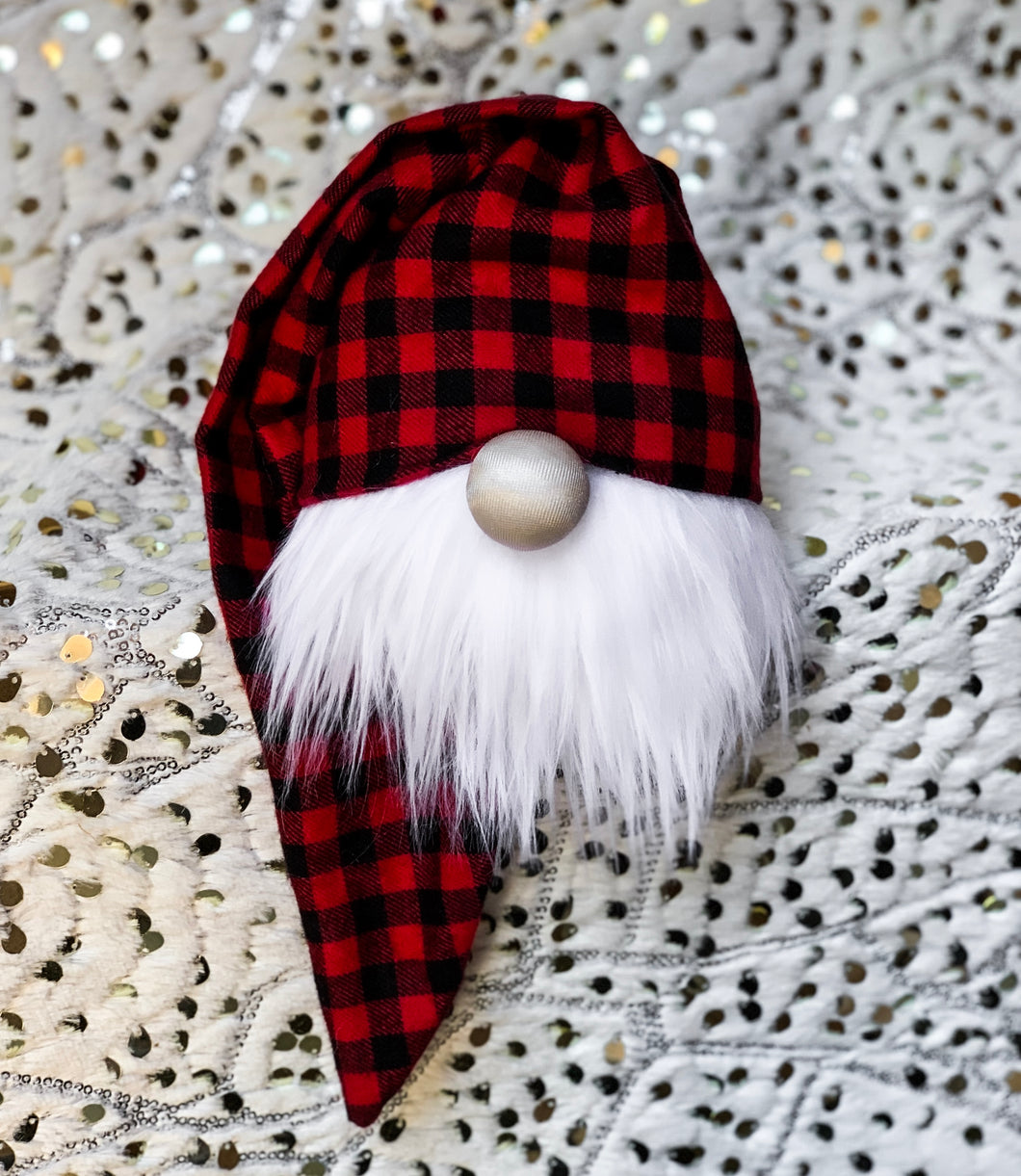 Mini Buffalo Plaid Christmas Gnome
