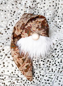 Sparkly Gingerbread Christmas Gnome