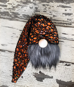 Sparkly Spider Web Halloween Gnome