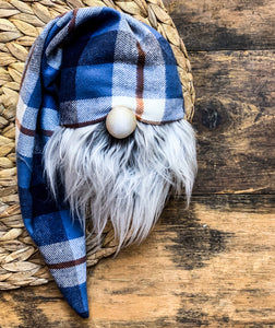 Denim Patchwork Plaid Gnome
