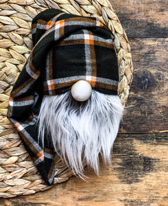 Pumpkin Patch Plaid Gnome